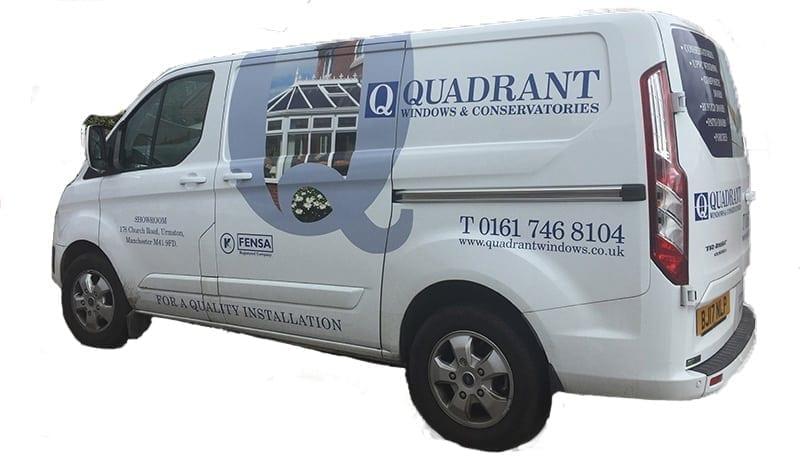 Quadrant Windows Van with graphics